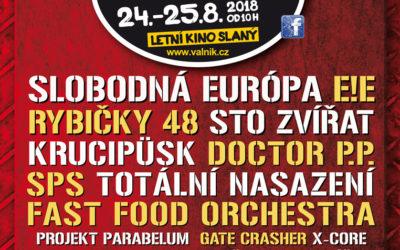 OFICIÁLNÍ PLAKÁT SLÁNSKÉHO FESTIVALU VALNÍK 2018