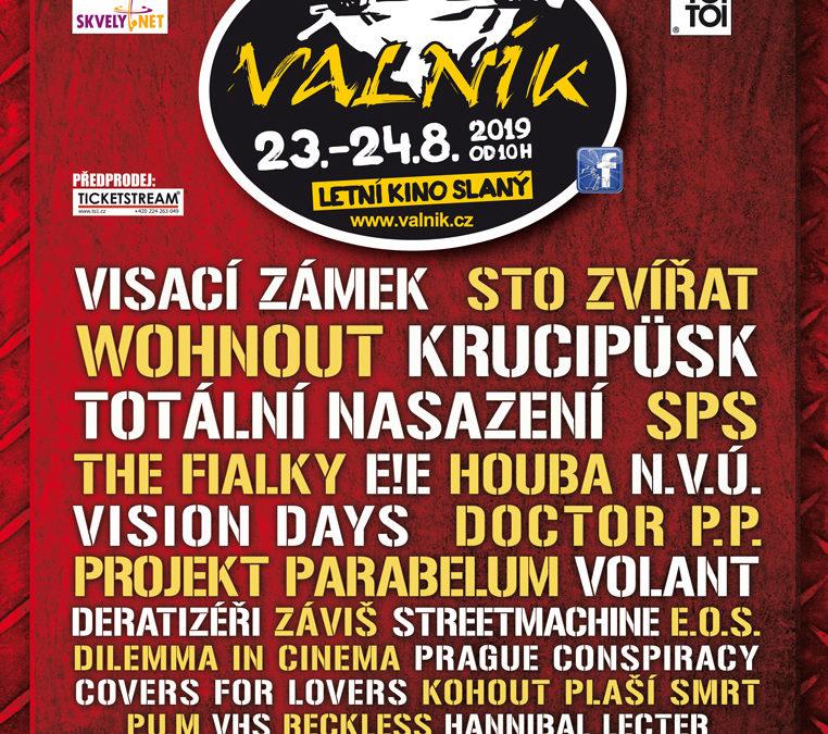 OFICIÁLNÍ PLAKÁT SLÁNSKÉHO FESTIVALU VALNÍK 2019